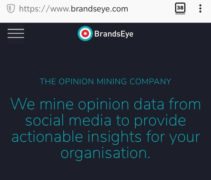 We mine opinion data from social media to provide actionable insights for your organisation.