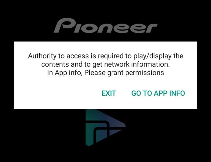 Authority to access is required to play/display the contents and to get network information in App info.