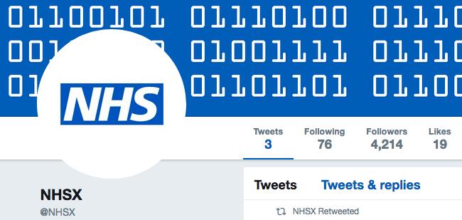 NHSX Twitter Feed.