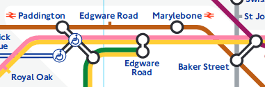 Edgware Road station on a map.
