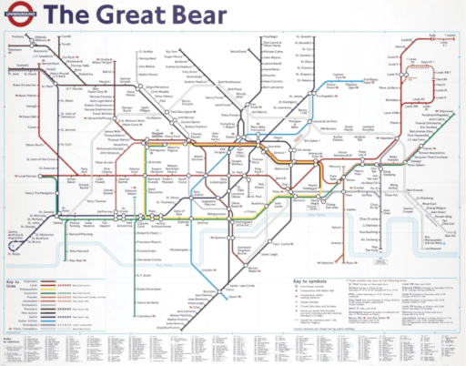 A map of the London Underground - entitled The Great Bear.