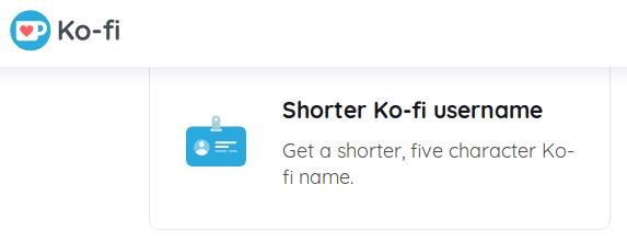 Ko-Fi username policy.