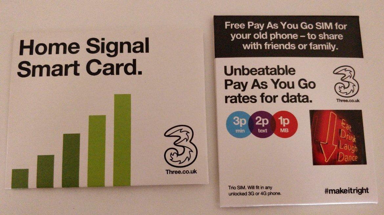 A pair of SIM cards.