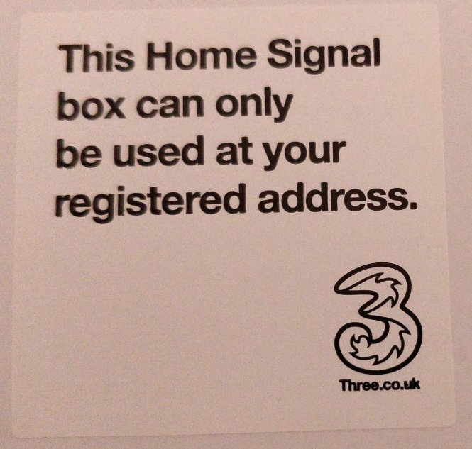 """This Home Signal box can only be used at your registered address."