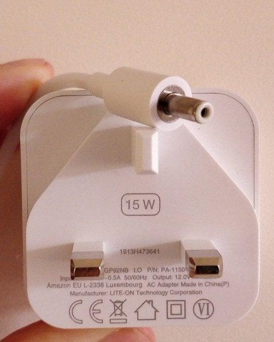 A 15 watt  charger.