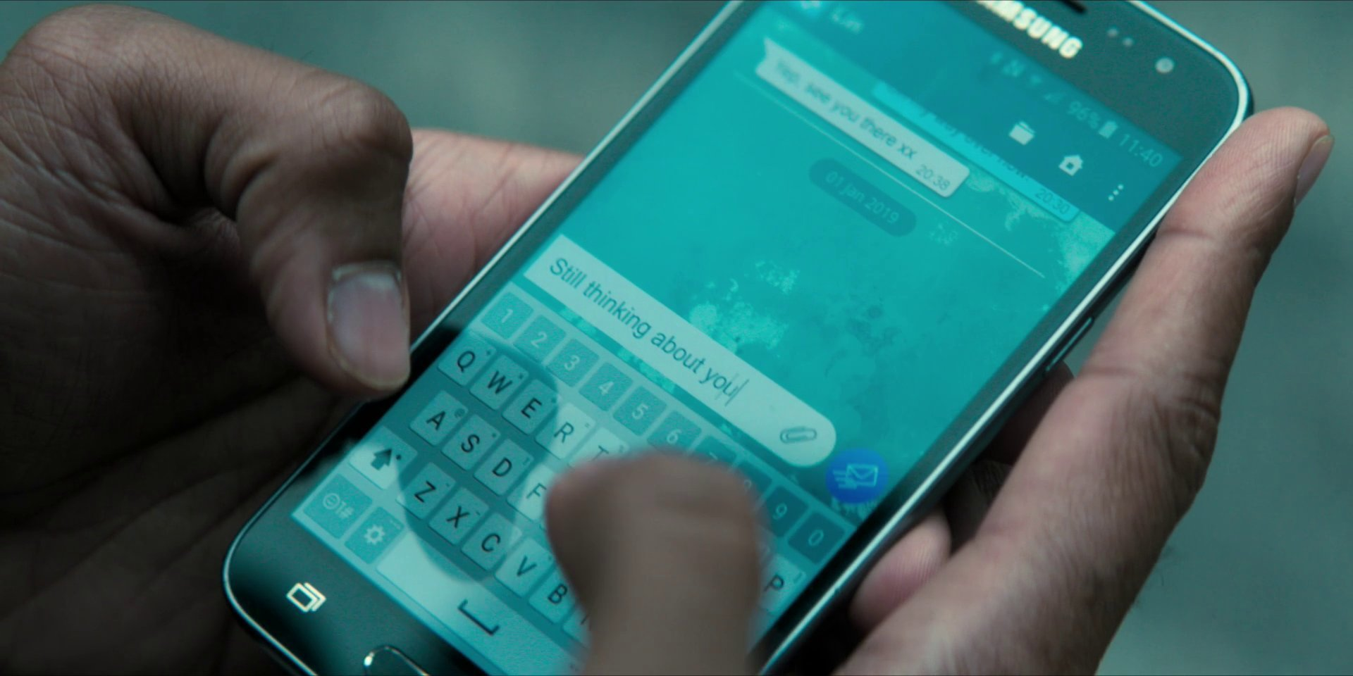 Mitch's phone.