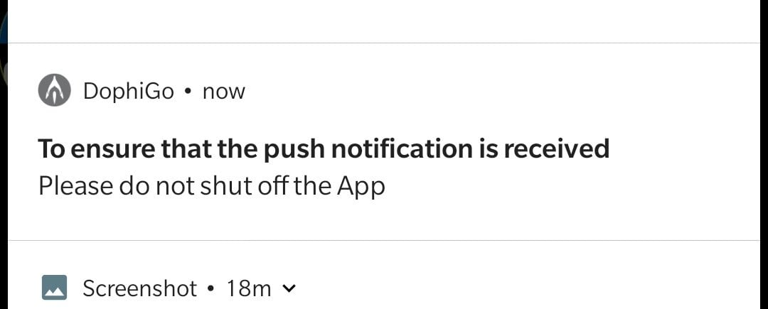 Permanent notification.
