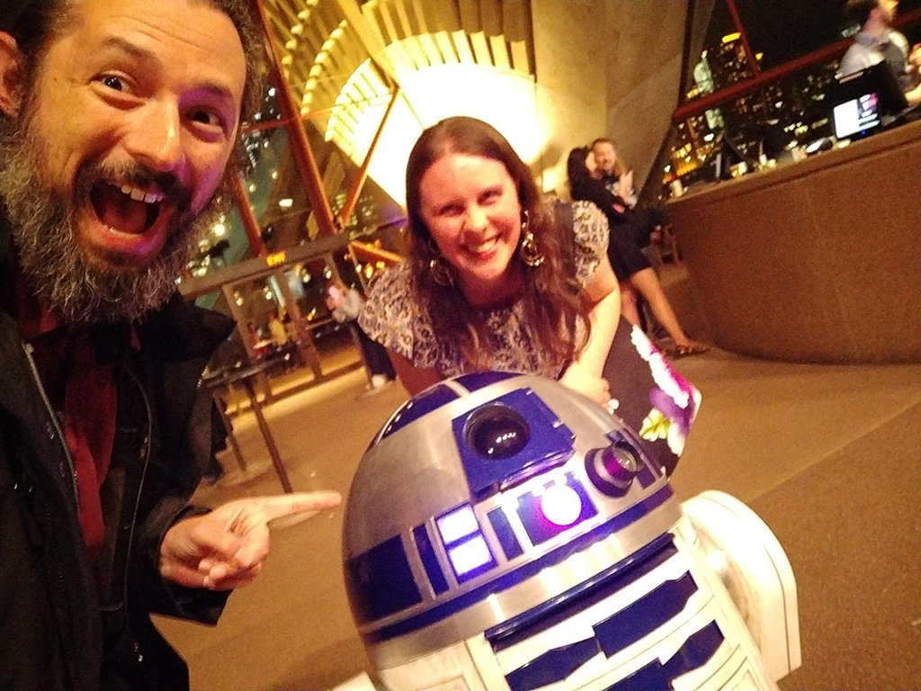 Us meeting R2-D2.