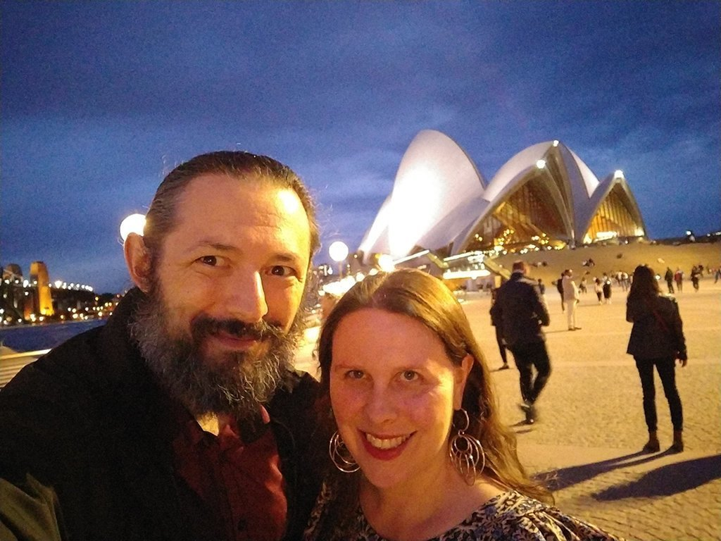 Us outside the opera house.