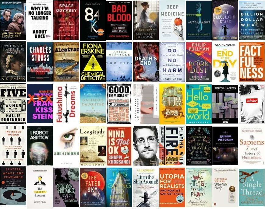 Montage of book covers.