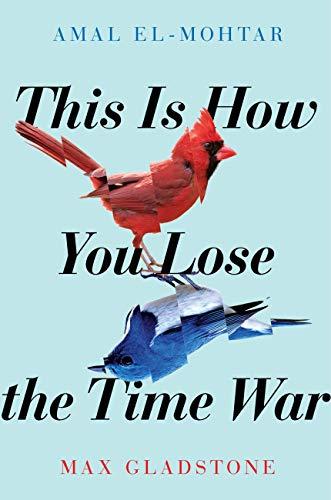 A red bird and a blue bird.