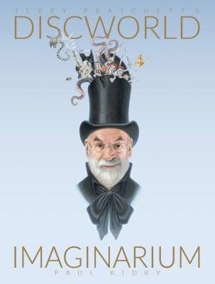 Terry Pratchett wearing a top hat.