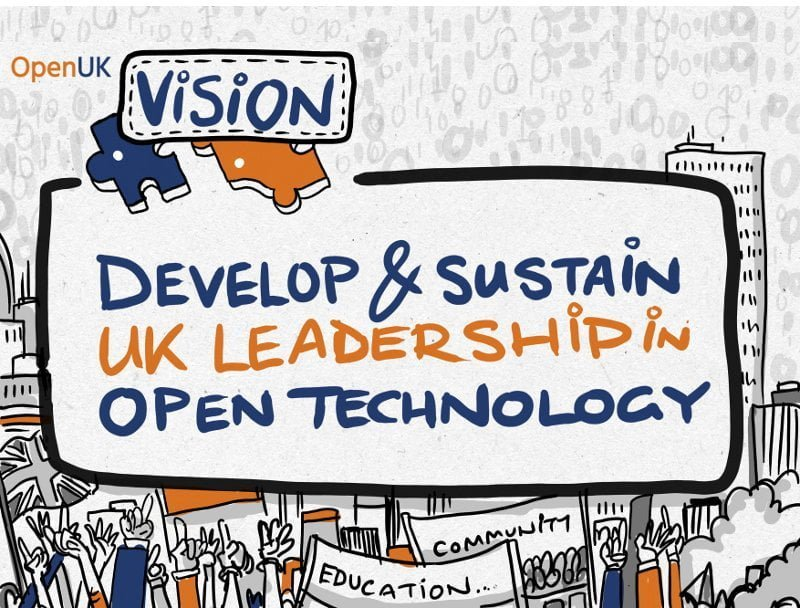 Cartoon of the OpenUK vision.
