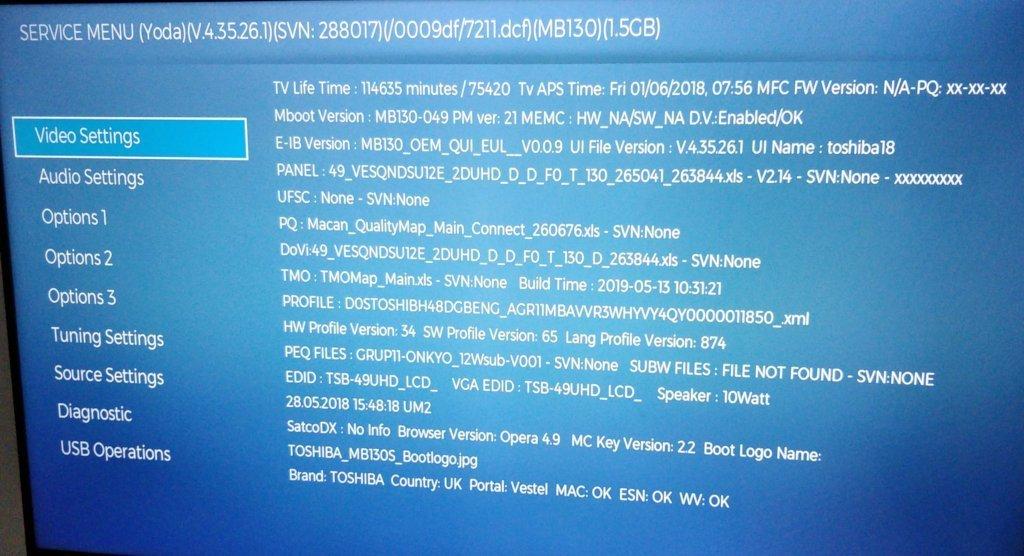 A blue screen full of debug information.