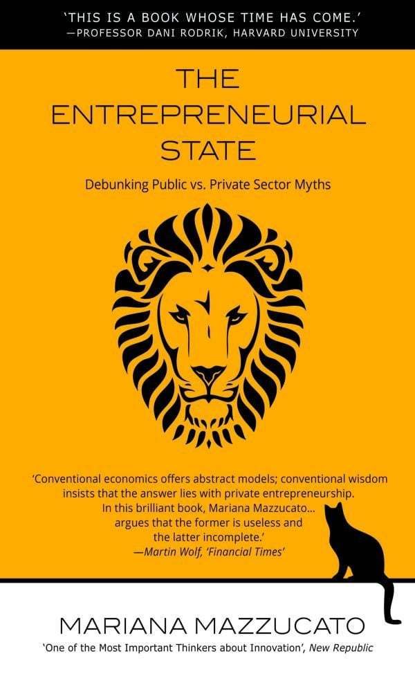 Book cover with a lion on it.