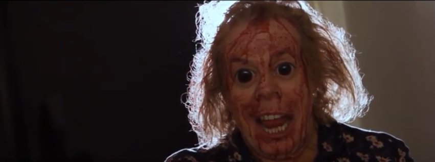 Carrie Cohen covered in blood.