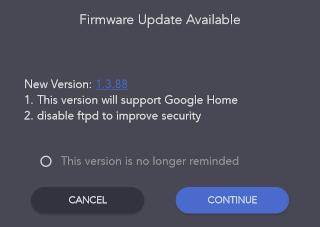 Firmware Update.