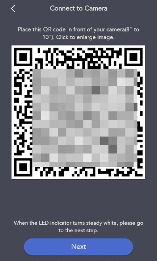 QR Code for WiFi set up.