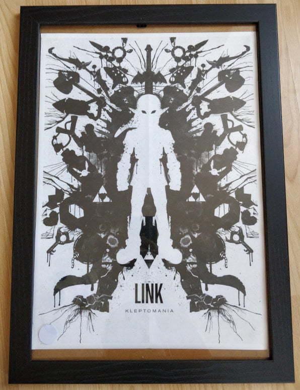 Framed print of an artistic Link from Zelda.