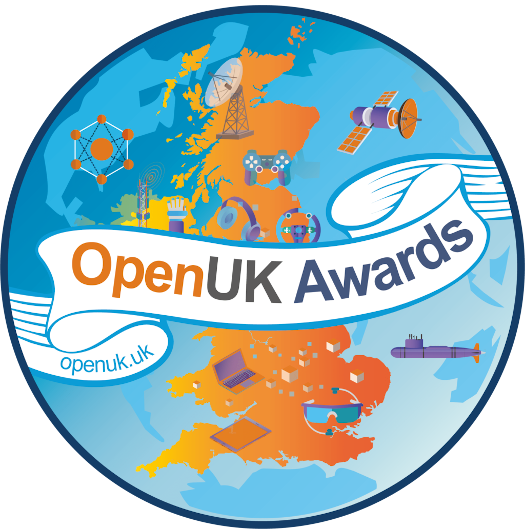 A bright and colourful logo showing the UK.