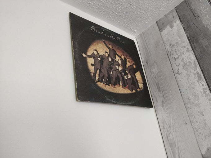 Band on the Run stuck to the wall