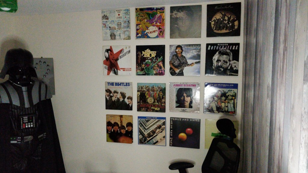 Floating Record Wall.