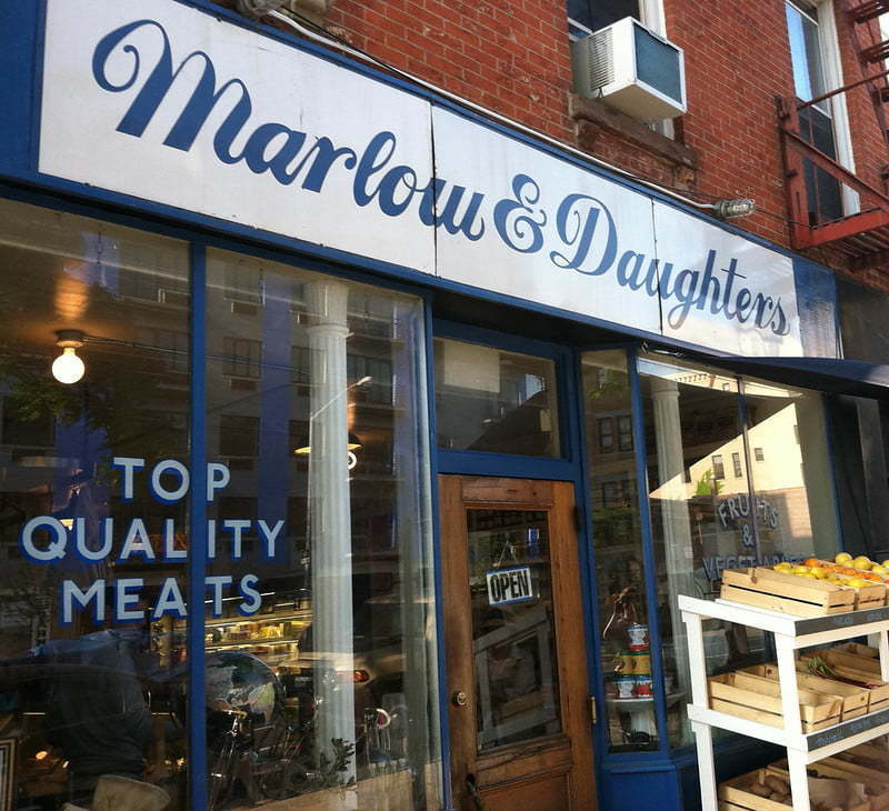 Shop sign - Marlow and Daughers. Via https://flic.kr/p/a6S2rR