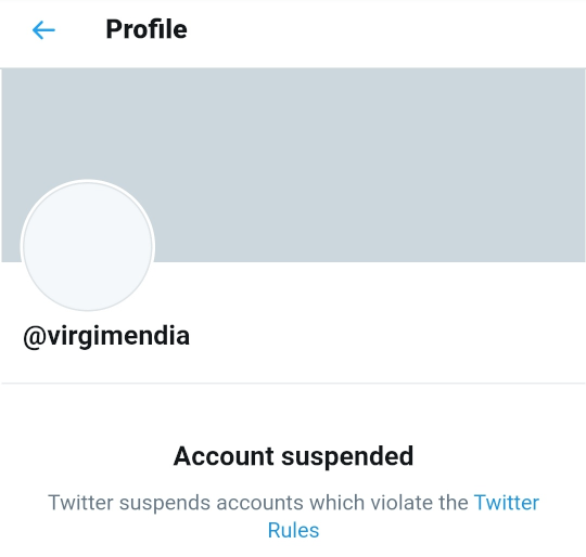 Account suspended.