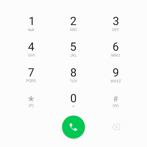 A modern Android dial pad.