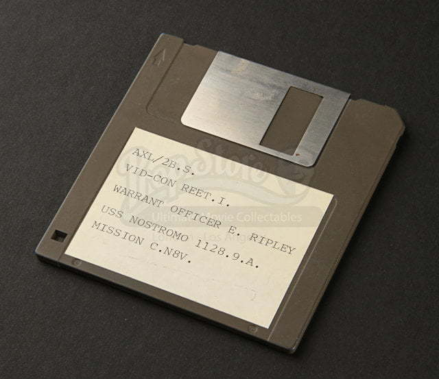 A floppy disk with Ripley's file on it.