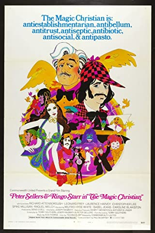 A garish cartoon poster for The Magic Christian.