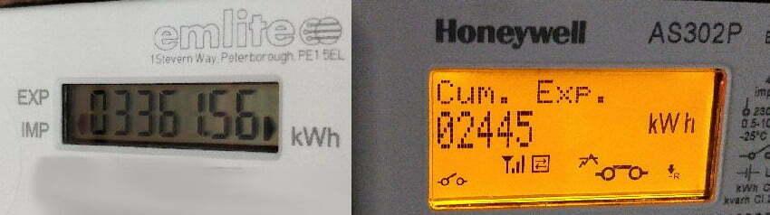 Electricity meters.