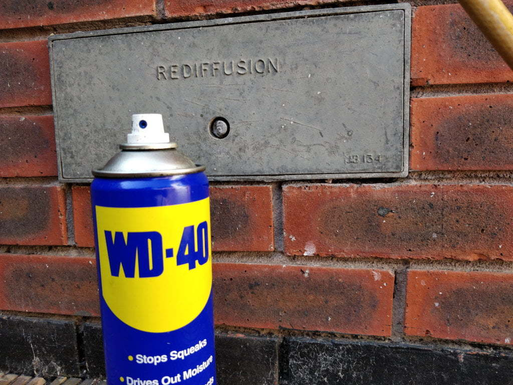 Big can of WD-40.