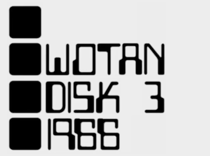 Wotan in a groovy 1960s font.