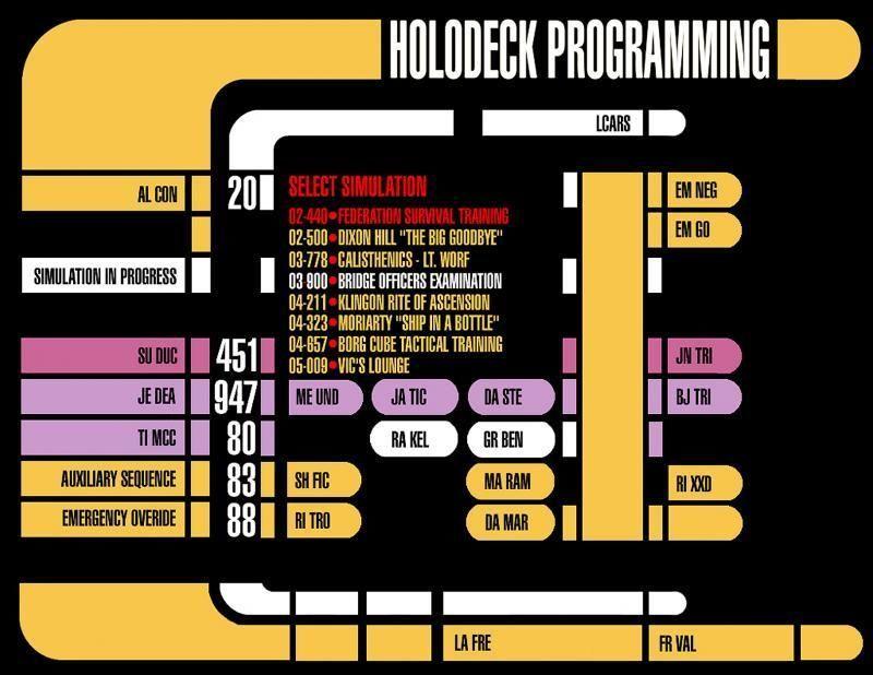 A colourful Star Trek interface.