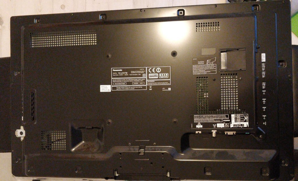 The back of a telly.
