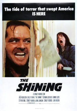 Movie poster for the Shining.