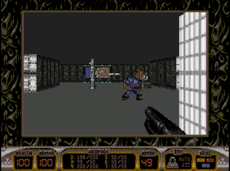 An amazing 3D graphics from Wolfenstein 3D.