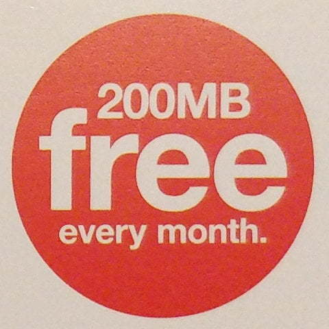 Advert for 200MB of free data.