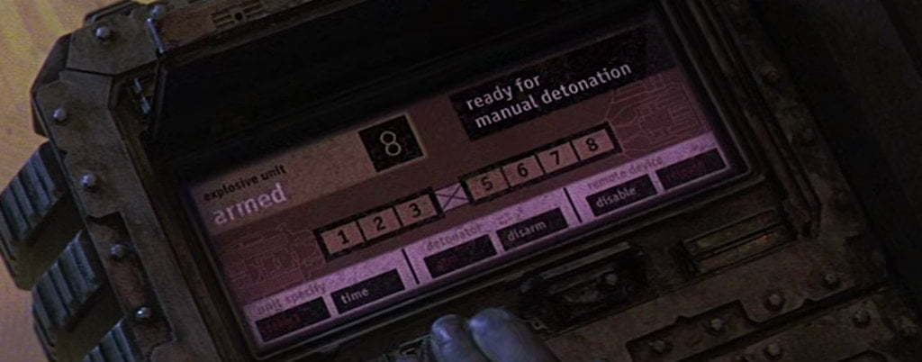 A manual detonation screen.