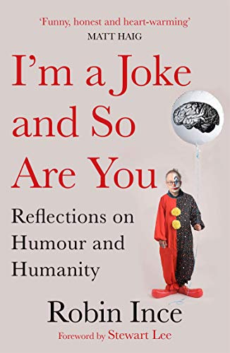 Robin Ince dressed as a clown.