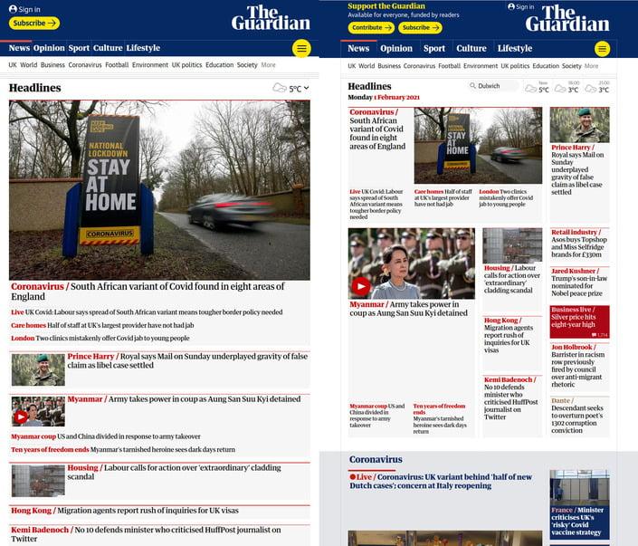 Guardian News website.