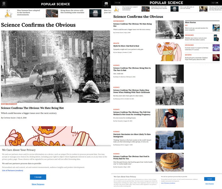 Popular science website.