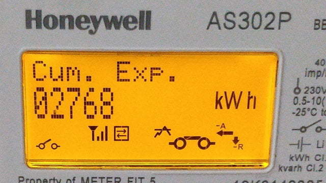Export readings on a display.