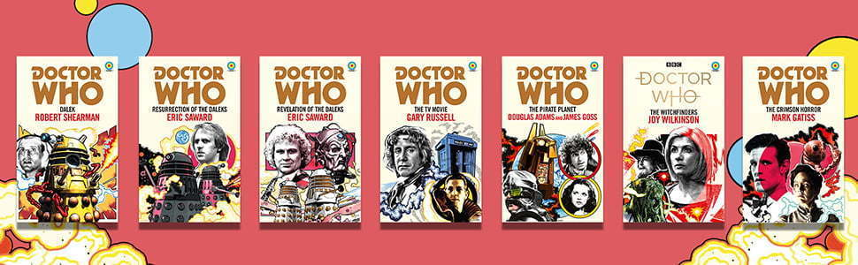 Row of Doctor Who books.