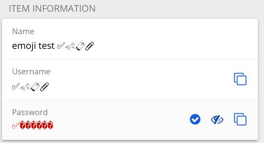 Linux app showing a broken password.