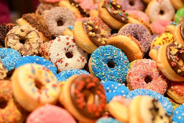 A big box of tasty doughnuts.