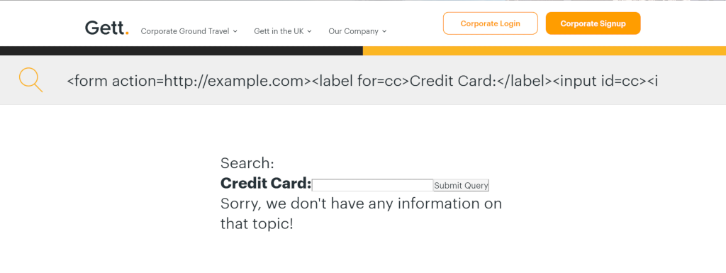 A basic form asking for users' credit card details.