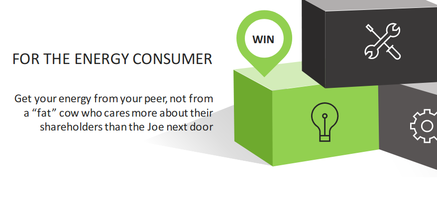 """Get your energy from your peer, not from a """"fat"""" cow who cares more about their shareholders than the Joe next door"""