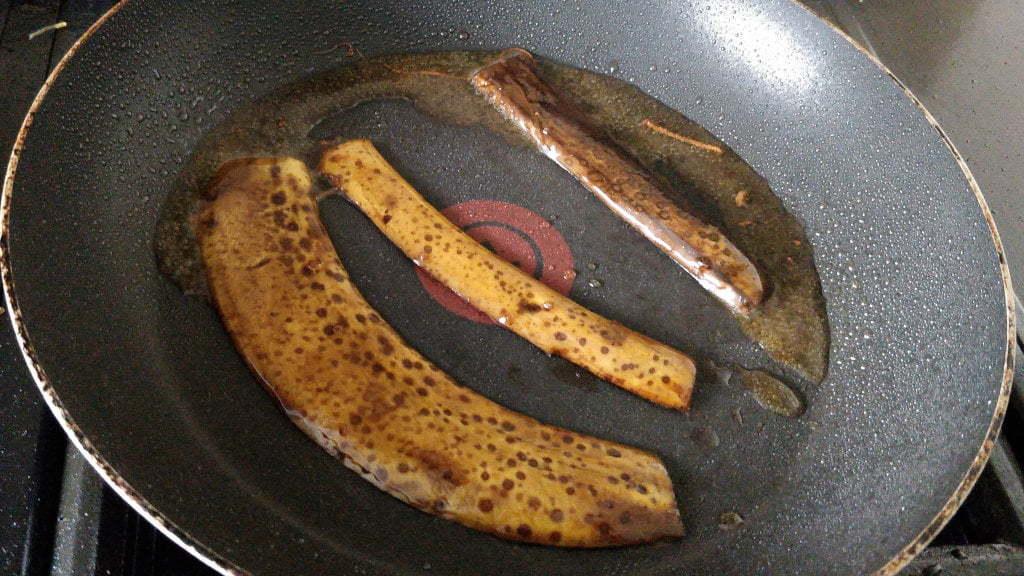 Skins in a pan, frying away.